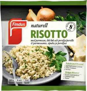 Prøv også Findus risotto naturell.