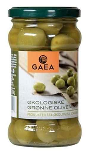 Bilde av Gaea Økologisk Grønne Oliven.