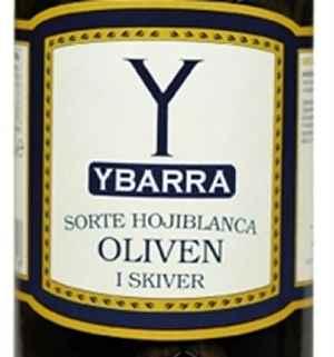 Bilde av Ybarra Sorte oliven i skiver.