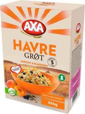 Prøv også Axa Havregrøt Aprikos & Blåbær.