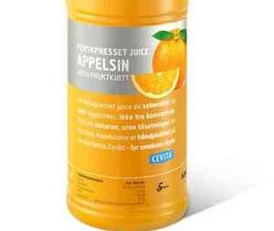 Prøv også Cevita ferskpresset appelsinjuice uten fruktkjøtt.
