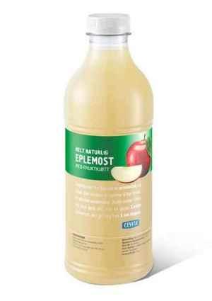 Prøv også Cevita helt naturlig eplemost med fruktkjøtt.