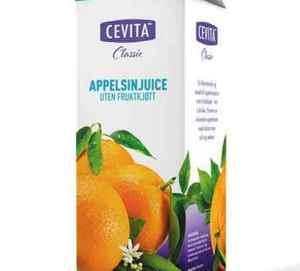 Prøv også Cevita classic appelsinjuice uten fruktkjøtt.