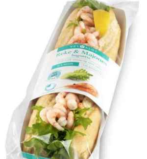 Prøv også Bama VelValgt baguette med reker og majones.