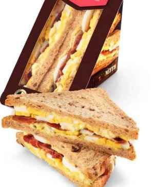 Prøv også Bama mett og go sandwich med egg og bacon.
