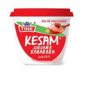 Prøv også Tine Kesam jordbær og rabarbra.