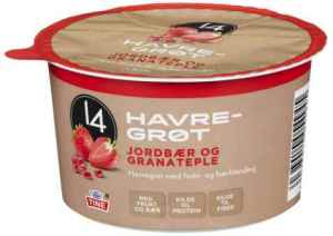 Prøv også Tine 14 Havregrøt jordbær og granateple.