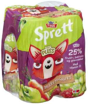 Prøv også Tine Sprett pluss drikkeyoghurt.
