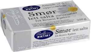 Prøv også Brimi lettsalta smør.