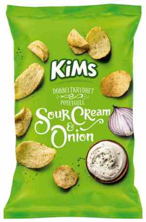 Prøv også Kims potetchips sour cream and onion.