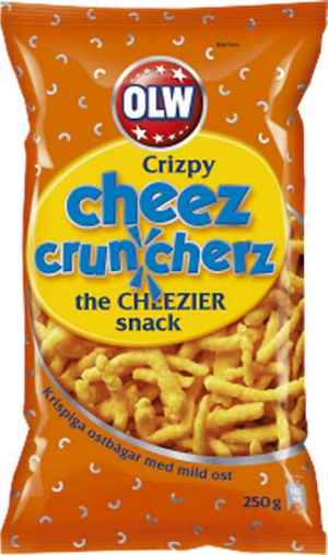 Prøv også Cheez cruncherz.