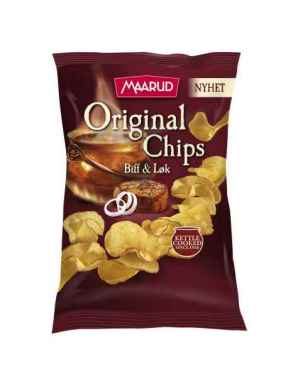Prøv også Maarud original chips biff og løk.