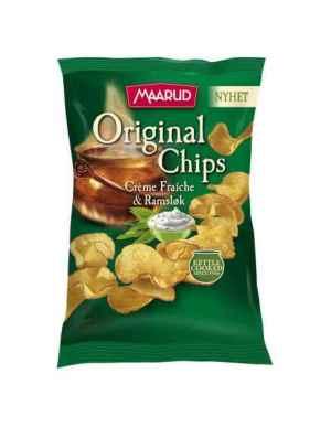 Prøv også Maarud original chips creme fraiche og ramsløk.