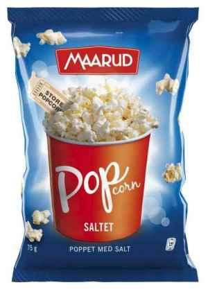 Prøv også Maarud poppet popcorn med salt.