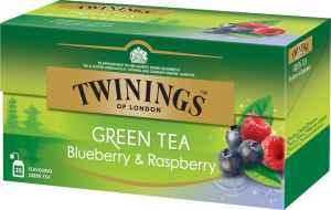 Prøv også Twinings Grønn Te blåbær og bringebær.