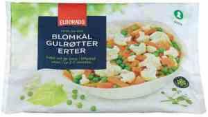 Prøv også Eldorado Blomkål, gulrøtter, erter.