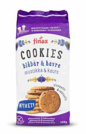 Prøv også Finax glutenfri blåbær og havre cookies.