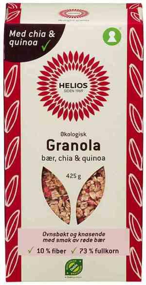 Prøv også Helios granola, bær, chia og quinoa.