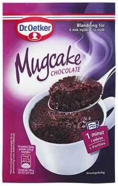 Prøv også DrOetker Mugcake Chocolate.