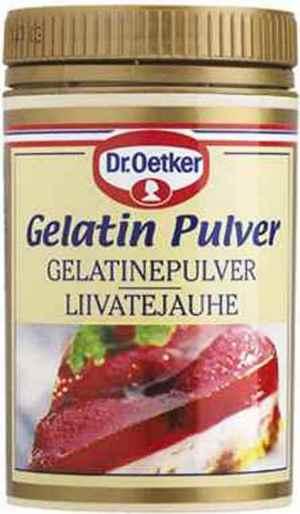Prøv også DrOetker Gelatinpulver.
