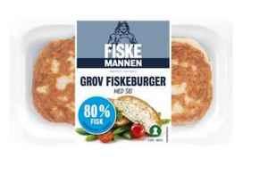 Prøv også Fiskemannen fiskeburger med 80% sei.