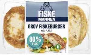Prøv også Fiskemannen Fiskeburger 80% grov med purre.
