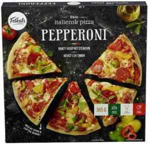 Prøv også Folkets pizza pepperoni med ananas.