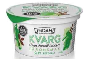 Prøv også Lindahls kvarg med pæresmak.