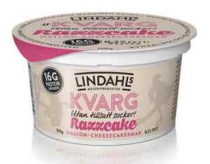 Prøv også Lindahls kvarg med smak av bringebær-ostekake.