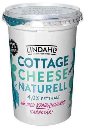 Prøv også Lindahls cottage cheese naturell med kvargliknande karakter.