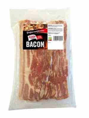 Prøv også Gilde bacon uten svor skivet.