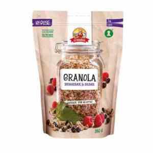 Prøv også Synnøve granola bringebær og solbær.