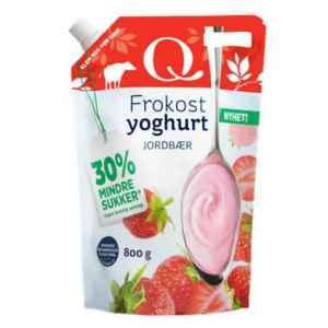 Prøv også Q Frokostyoghurt jordbær.