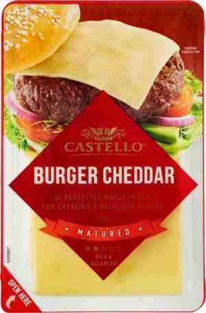 Prøv også Arla castello burger cheddar.