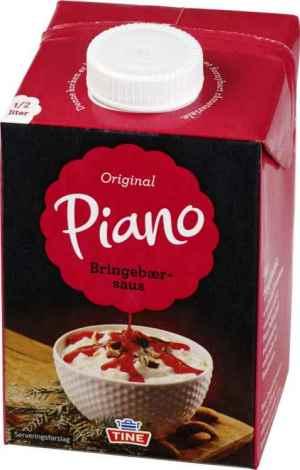 Prøv også Tine Piano Bringebærsaus.