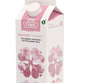 Prøv også Tine fettfri Skummet melk.