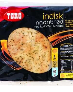 Prøv også Toro indisk naanbrød med koriander og hvitløk.