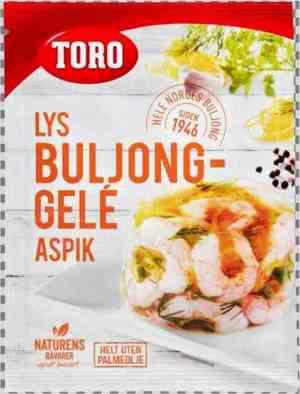 Les mer om Toro lys buljong-gele aspik hos oss.