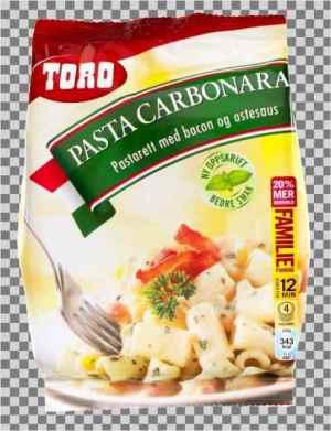 Les mer om Toro pasta carbonara tilberedt hos oss.