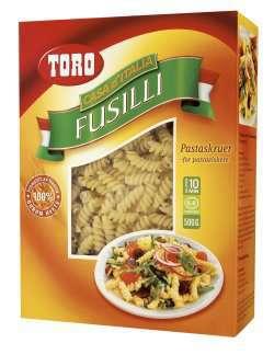 Prøv også Toro fusilli.