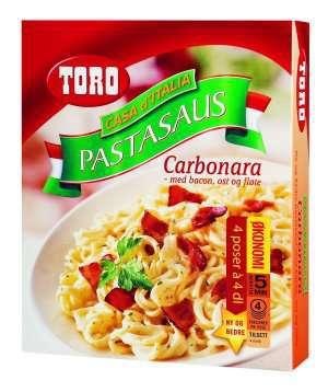 Les mer om Toro pastasus carbonara med bacon, ost og fl�te. hos oss.