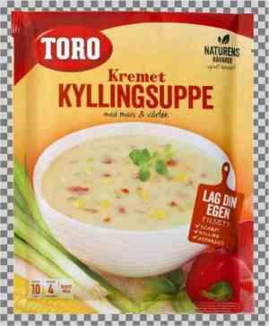 Prøv også Toro kremet kyllingsuppe med mais og vårløk.