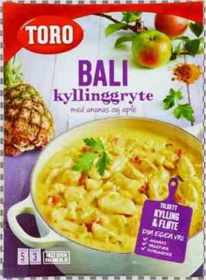 Prøv også Toro Bali kyllinggryte tilberedt.