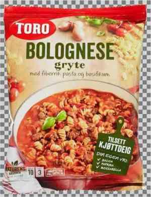 Prøv også Toro bolognese gryte tillagd.
