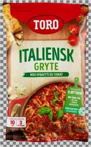 Les mer om Toro italiensk gryte med spagetti tilberedt hos oss.