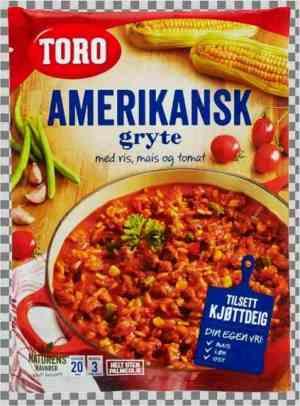 Les mer om Toro amerikansk gryte med ris tilberedt hos oss.