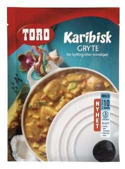 Les mer om Toro karibisk gryte for kylling eller svinekj�tt hos oss.
