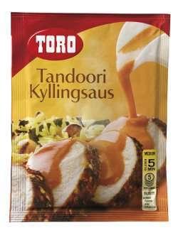 Prøv også Toro tandoori kyllingsaus.