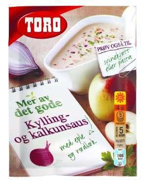 Prøv også Toro kylling og kalkunsaus med eple og rødløk.