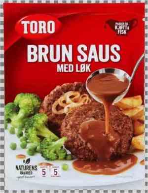 Prøv også Toro brun saus med løk pose tilberedt.